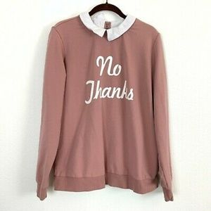 Forever 21 Plus size No thanks sweater sz …